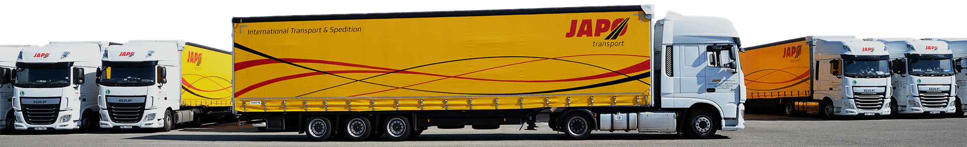 Kamióny na parkovišti
